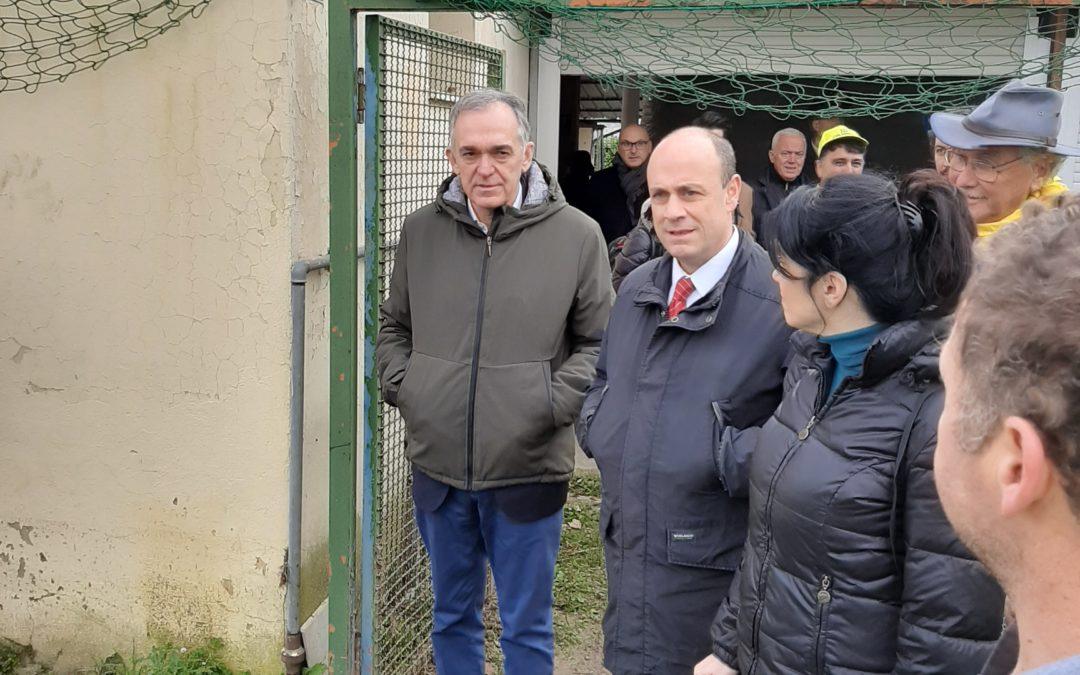 Il governatore Rossi in visita all'impianto di Sagginale